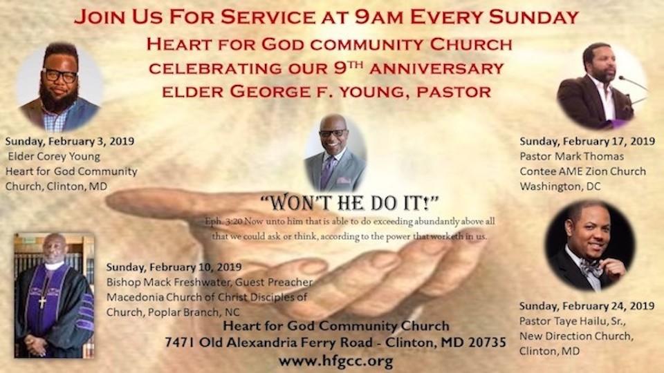 9th Anniversary Services